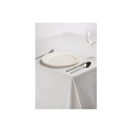 Nappe rectangulaire en polyester coton blanc uni gastromastro group sas - Nappe en coton blanc ...