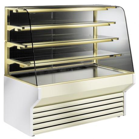 Vitrine réfrigérée ventilée pour pâtisserie avec 3 étagères, +7 °C/+10 °C, 2120 mm