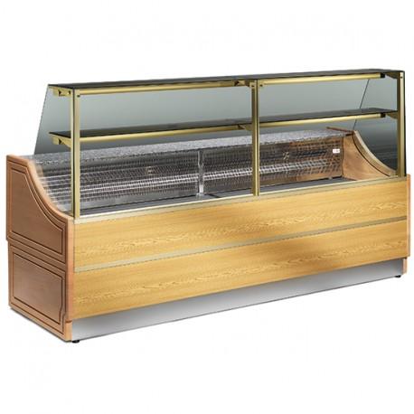 Comptoir réfrigéré statique pour pâtisserie avec 1 étagère, +4 °C/+6 °C, 2500 mm