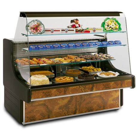 Comptoir réfrigéré statique pour pâtisserie avec 2 tiroirs, +4 °C/+6 °C, 1400 mm