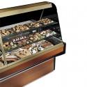 Comptoir réfrigéré statique pour pâtisserie avec 2 étagères, +4 °C/+6 °C, 3000 mm
