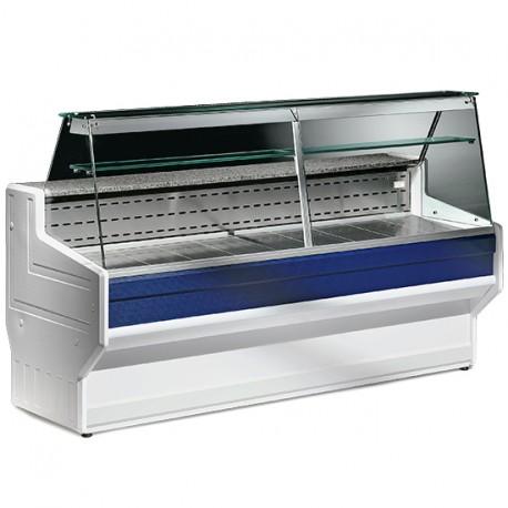 Comptoir réfrigéré statique avec vitre droit, +4 °C/+6 °C, 3000 mm