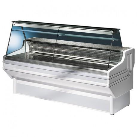 Comptoir réfrigéré statique avec vitre droit, +4 °C/+6 °C, 2500 mm