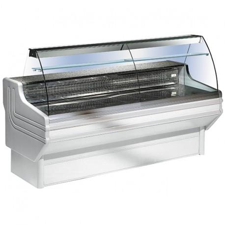 Comptoir réfrigéré statique avec vitre curbe, +4 °C/+6 °C, 1500 mm