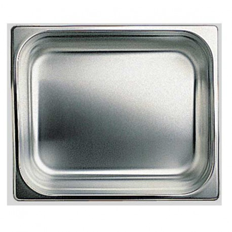 GN container in stainless steel, GN 1/2 H 20 mm