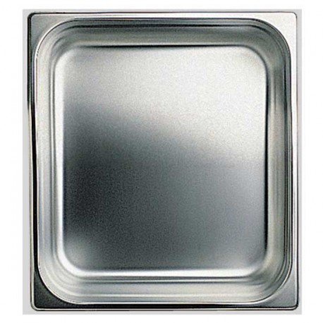 GN container in stainless steel, GN 1/6 H 100 mm