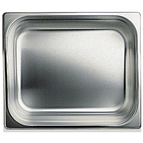 GN container in stainless steel, GN 1/2 H 40 mm