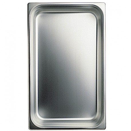GN container in stainless steel, GN 1/4 H 100 mm