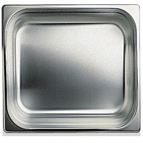 GN container in stainless steel, GN 2/3 H 100 mm