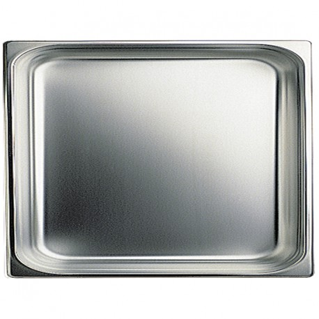 GN container in stainless steel, GN 2/1 H 100 mm