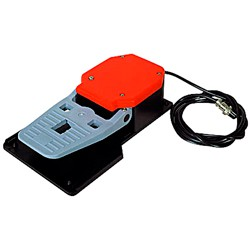 Electric foot pedal for dough rolling machines
