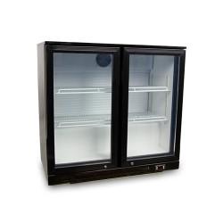 Table de bar réfrigérée 2 portes en verre