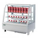 Vitrine réfrigérée de comptoir blanche 100L