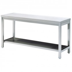 Work table with shelf, without upstand, 900x700 mm