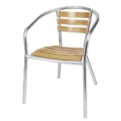 Bolero Aluminium Stacking Chairs (Pack of 4)