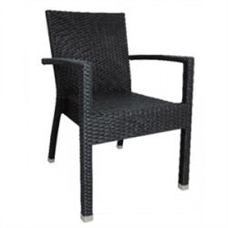 Bolero Wicker Side Chairs Charcoal
