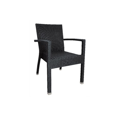 Bolero Wicker Side Chairs Charcoal