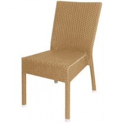 Bolero Wicker Armchairs Charcoal