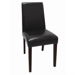 Bolero Faux Leather Dining Chairs Dark Brown
