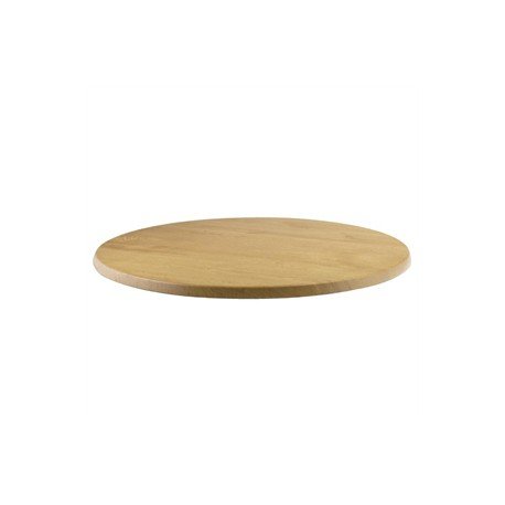 Werzalit Round Table Top Planked Beech 600mm