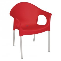 Bolero Stacking Bistro Armchairs Red