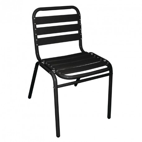 Bolero Stacking Bistro Armchairs Black