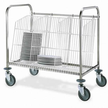 chariot à transport assiettes, capacité 150 assiettes