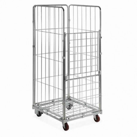 chariot roll container avec 1 base, 2 ridelles, 2 courroies