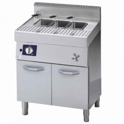 gas pasta cooker on closed cabinet, 40 litres