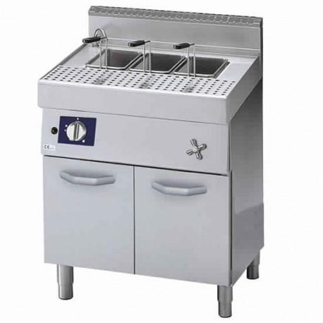 cuisseur à pâtes à gaz sur soubassement fermé, 40 litres