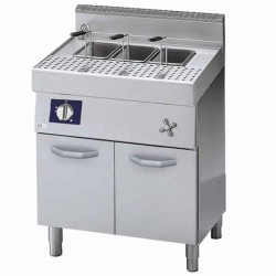 electric pasta cooker on closed cabinet, 40 litres