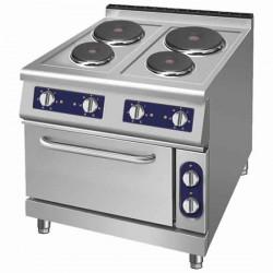 cuisinière électrique, 4 plaques rondes, 1 four électrique à convection