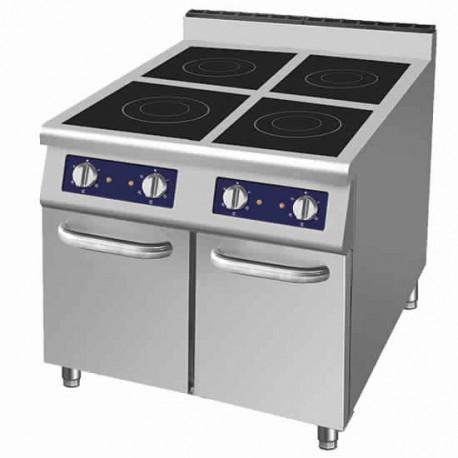 cucina ad induzione 4 piastre (2x 3,5 kW+2x 5 kW) su vano con ...