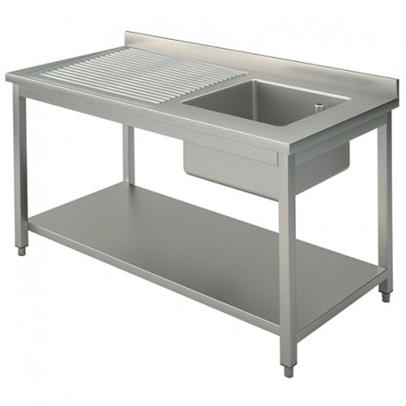 Stainless Steel Sink Right Hand Bowl 1200x 600mm