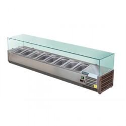 Vitrine réfrigérée à ingrédients 8 Format GN Polar