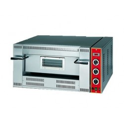 Gas pizza oven for 6 pizzas ø 33 cm, electronic control