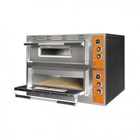 Four à pizza électrique pour 4+4 pizzas ø 30 cm, contrôle mecanique