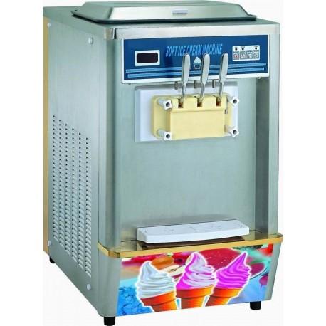 Machine à soft ice avec condensation à air/eau, capacité 2x 8 litres
