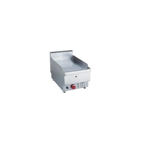 plaque grillades à gaz de table, 1 zone, plaque lisse, l 400 mm
