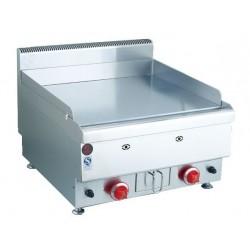 plaque grillades à gaz de table, 1 zone, plaque chromée lisse, l 600 mm