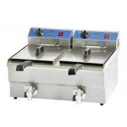 Friteuse électrique professionnel 2 bacs 2x10 litres