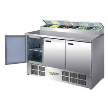 Comptoir de préparation réfrigéré pizzas/salades 390L