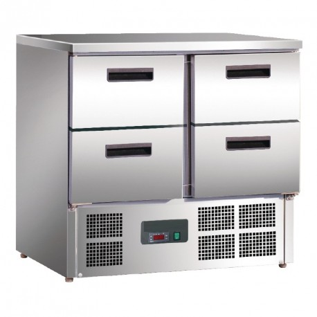 Table réfrigérée compacte 4 tirroirs 240L
