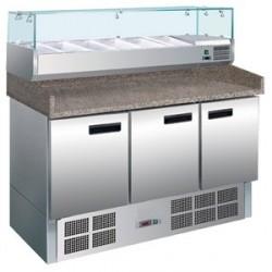 Comptoir réfrigéré de préparation à pizzas et salades 368L