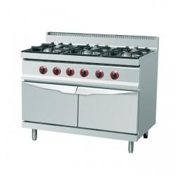 Cuisinière au gaz 6xbrûleurs (28,5 kW)