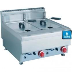Friteuse à gaz 2*10 litres ( 13,8 kW )