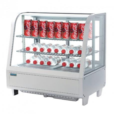 Vitrine réfrigérée de comptoir blanche 100L Polar