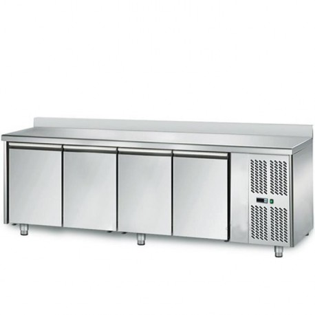 Table à pizza avec 3 portes 2025X800X1415 ,superstructure réfrigérée 9 GN1/3
