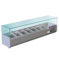 Réfrigéré d'affichage1,6mx0,34m - pour 7x1 / 4 GN conteneurs