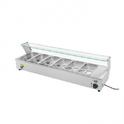 Refrigerated food display cabinet 1,6mx0,34m - for 7x1/4 GN containers